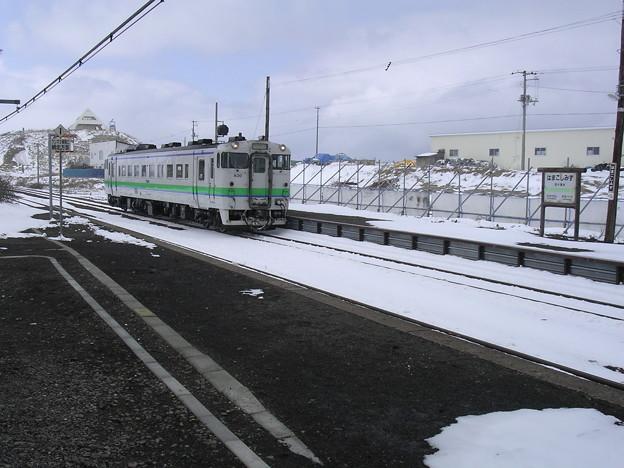 写真: 浜小清水駅入線