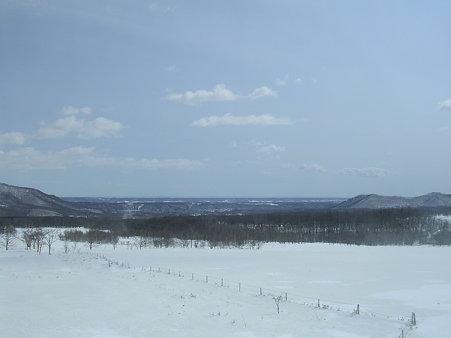 車窓から十勝平野の眺め