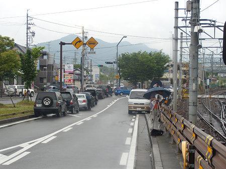 犬山橋付近に集まった撮り鉄