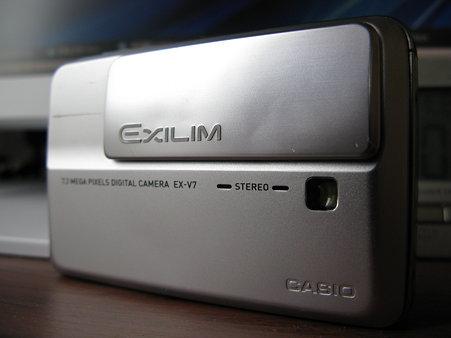 2009.11.01 CASIO EXILIM EX-V7 スライド部分 自己修理(1/7)