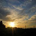 写真: 初秋の夕焼け(桃花台ニュータウン)