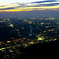 写真: 獅子吼高原から 夜景百選