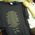 Photos: 中尊寺お経Tシャツ