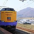 函館駅 485系白鳥と函館山