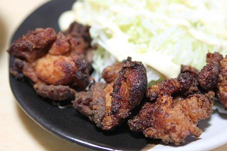 味噌付けの鶏肉を唐揚げにしたら激しく焦げた