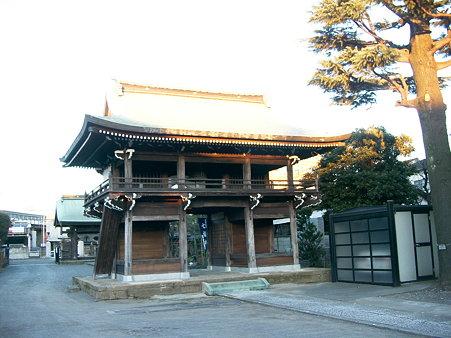 調布の西光寺、山門・楼門