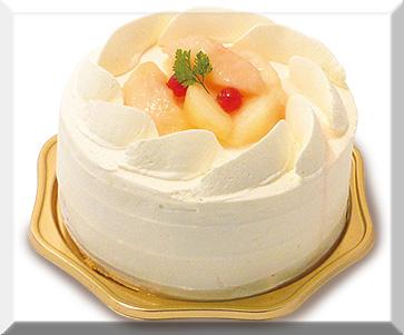 白桃のショートケーキ