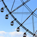 The sky and Ferris wheel.
