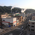 釜石市街地の夕方