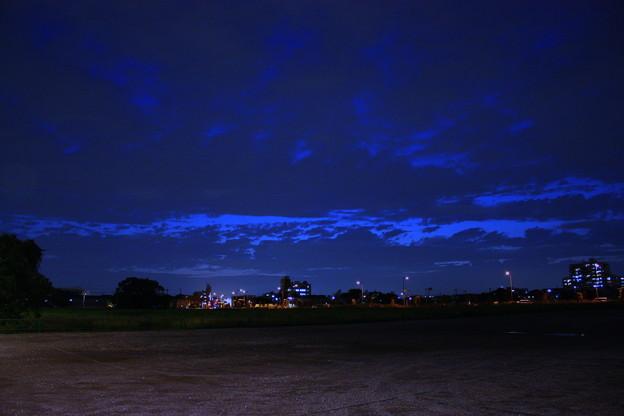 夜の撮影現場
