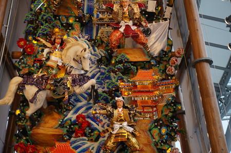 11 2014年 博多祇園山笠 博多駅の飾り山笠 軍師黒田官兵衛 (4)