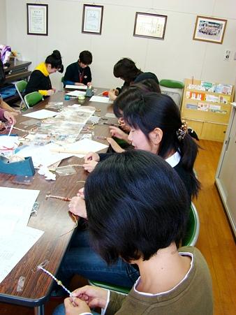 ヘンプ編み教室@幼稚園