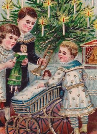 クリスマスツリーとプレゼントいっぱい,拡大
