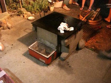 Oさんパパ特製BBQ設備