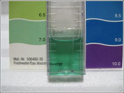 pH測定。