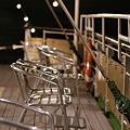 レストラン船のデッキ