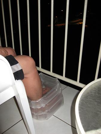 2009年ハワイ旅行 〜 ラナイで足湯 〜