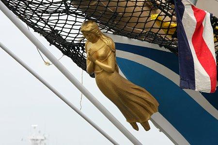 2009.07.20 みなとみらい 日本丸・船首像「藍青」