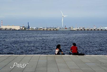 夢の語らい・・横浜 seaside sketch・・1