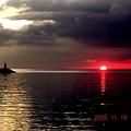 マニラ湾赤と黒