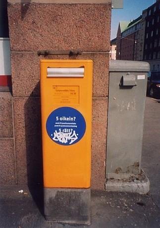 Photos: 【北欧】ヘルシンキ フィンランド 2005 [26] 郵便ポスト