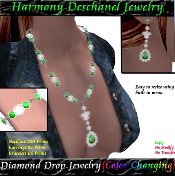 Harmony Deschanel - Diamond Drop Jewelry Color Change (BOXED)