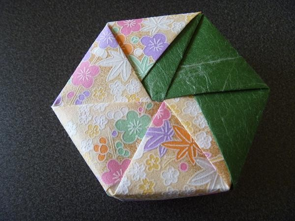 簡単 折り紙 折り紙 箱 六角形 : divulgando.net