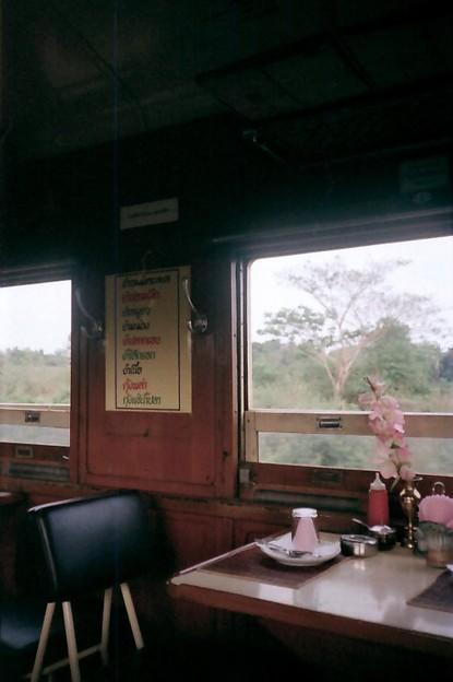 Thailand / タイ、食堂車メニュー
