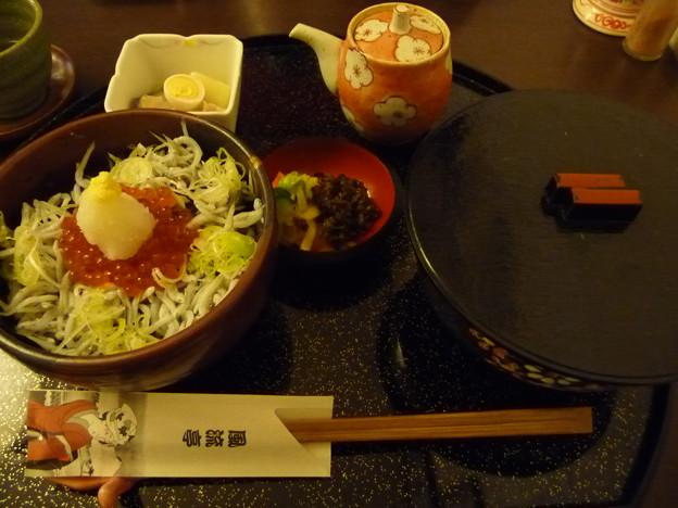 ミニイクラ丼とすいとん(ふたとじ)