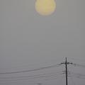 写真: 霞む太陽_20110502