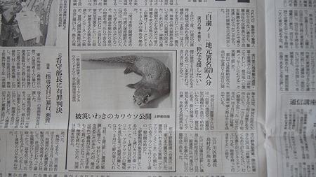 Photos: 朝日新聞 5.25 求める会 記事1