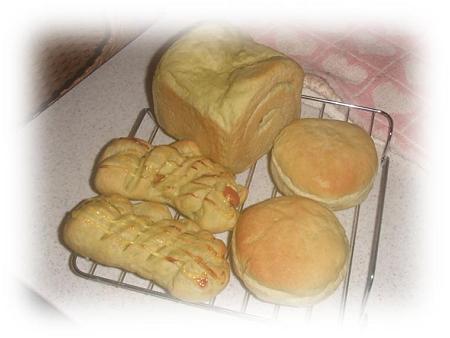 抹茶入り米粉パンたち