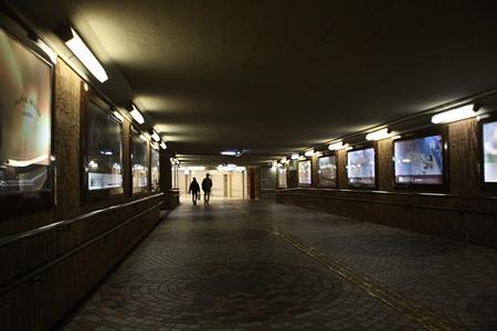 盛岡駅の地下通路。迷路みたい