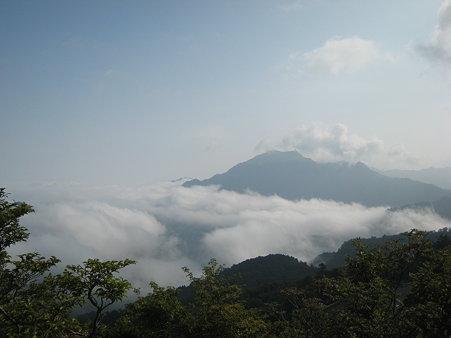 雲海と瓶ヶ森