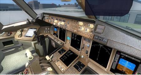 fsx 777-300 計器パネル